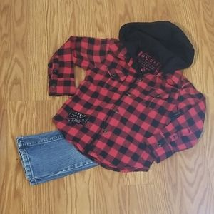 Levi's 2t guess flannel 3t